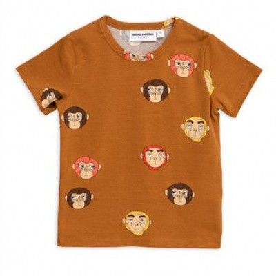 Foto van Mini Rodini Monkey top ss tee