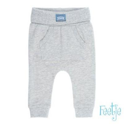 Foto van Feetje newborn uni jogpants grijs Happy camper