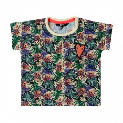 Beebielove girls t-shirt all over print flowers