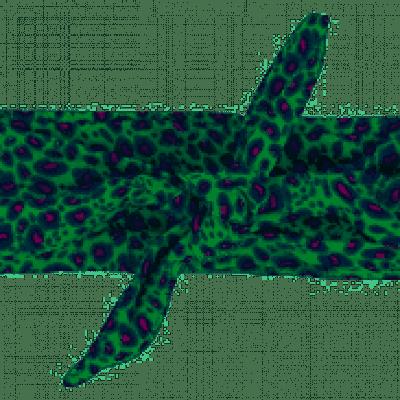 Quapi Haarband Athilda Jungle Green Leopard