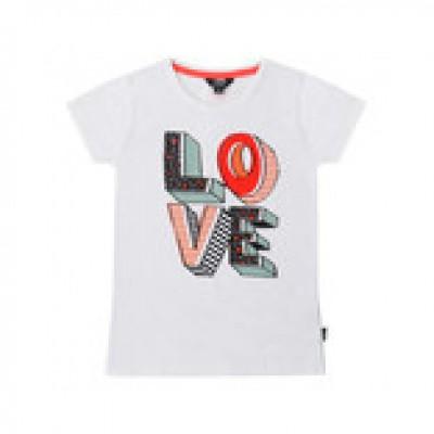 Foto van Little miss Juliette T-shirt Love White