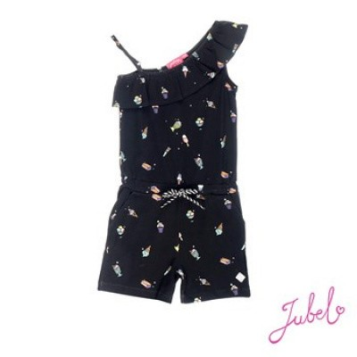 Foto van Jubel Jumpsuit zwart/all over print discodip