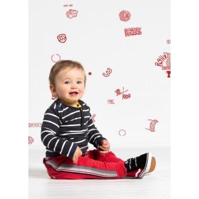 Quapi baby boy Valentijn Longsleeve Tires Grey Stripe