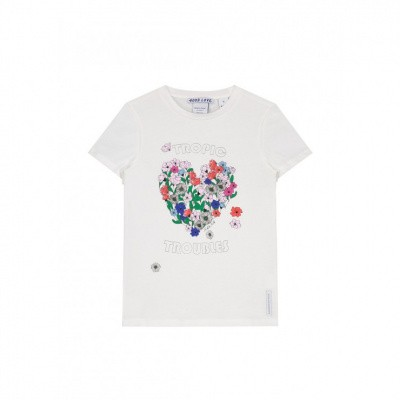 Nik & Nik girls Troubles T-shirt Off White