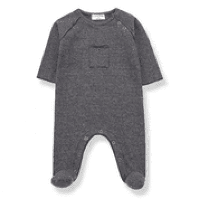 One more in the family baby jumpsuit Asier blue grey