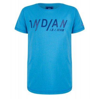Foto van Indian blue jeans tshirt cobalt blue