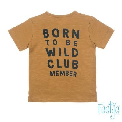 Feetje Baby Boy T-Shirt Wild One Born To Be Wild Camel