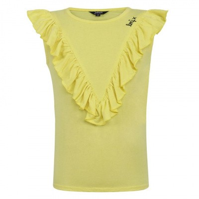Foto van Juliette T-Shirt Ruffel Yellow