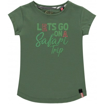 Quapi girls shirt Sass dusty olive