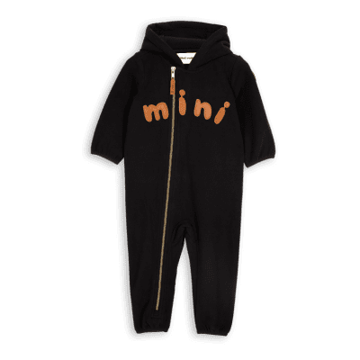 Mini Rodini Fleece onesie black