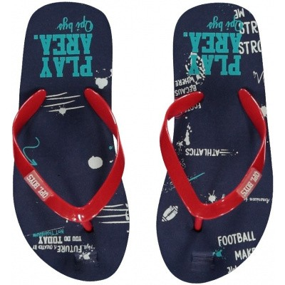 Foto van Quapi jongens Flipflops Slippers Navy Text All Over
