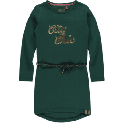 Quapi girl Tamia 3 Dress Bottle Green