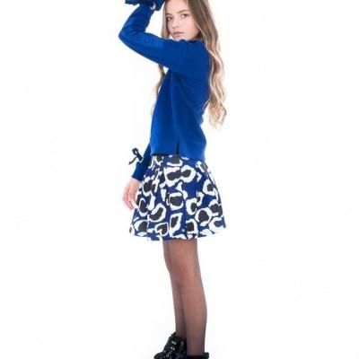 Foto van Frankie & Liberty Gabi Skirt Royal blue/Off white Animal print