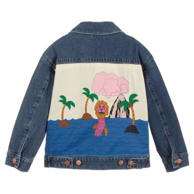 Foto van Mini Rodini Mini Rodini Seamonster denim Jacket