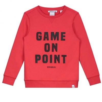 Foto van Nik & Nik boys sweater Game On Soft Red