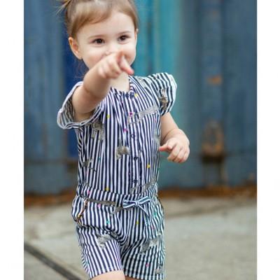 Foto van Quapi Baby Girl Bianca Jumpsuit Indigo Blue Stripe