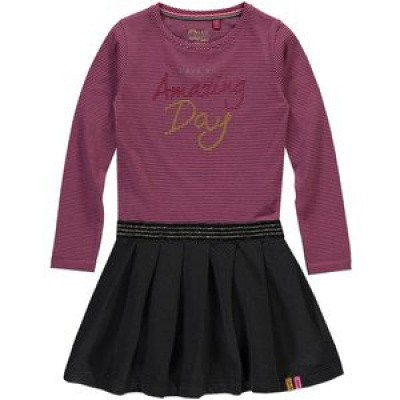 Quapi girl Thalisya dress Pink Dark Grey Stripe