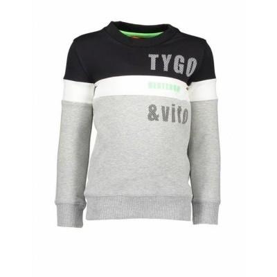 Foto van Tygo & Vito sweater Black/white
