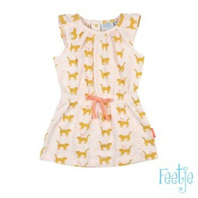 Feetje Baby Girl Jurk AOP Kiss off White
