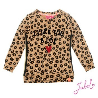 Jubel Sweater All over print Leopard - Lipstick Khaki