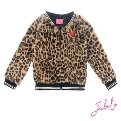 Jubel Teddy vest Leopard - Lipstick Khaki