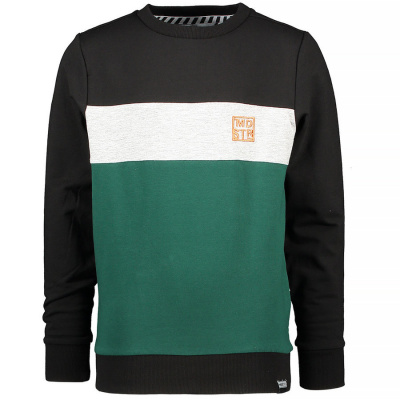 Foto van Moodstreet boys sweater green stripe