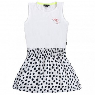 Foto van Little miss Juliette Dress dot wit