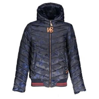 NoBell Jack Meisjes Balia hooded jacket with slanted step Navy Blazer