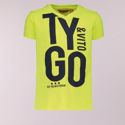 Tygo & Vito neon t-shirt 'TYGO&vito' safety yellow