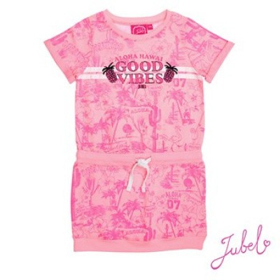 Jubel Jurk good vibes pink