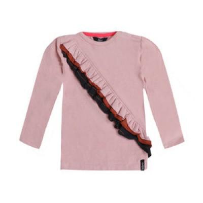 Beebielove baby girls Longsleeve ruffle Pink