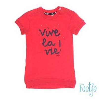 Foto van Feetje baby girls jurk korte mouw Vive la vie sea Rood