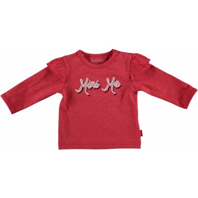 Bess newborn longsleeve mini me red