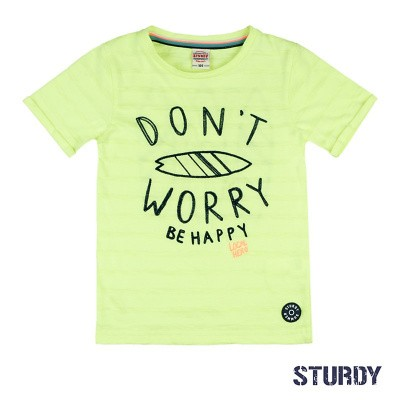 Foto van Sturdy T-Shirt Don't Worry Wild Wanderer Yellow