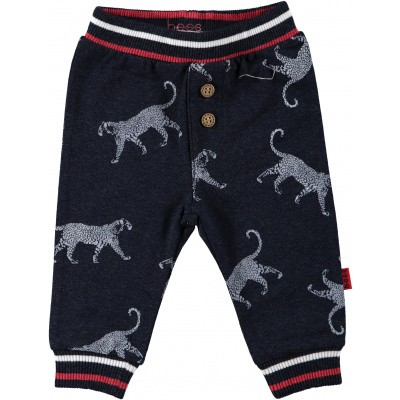 Bess newborn pants tiger AOP blue