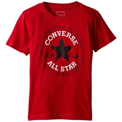 converse boys badge tee red
