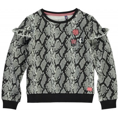 Quapi Girls Tavia sweater Dark Grey Snake