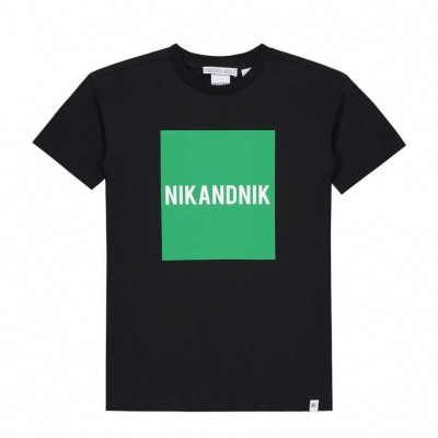 Nik & Nik Boys Marten t-shirt Black Green block