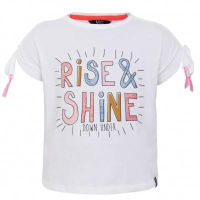 Foto van Beebielove Shirt Rise & Shine White