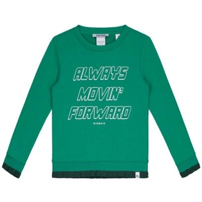 Nik & Nik Girls sweater Always Movin Jade Green