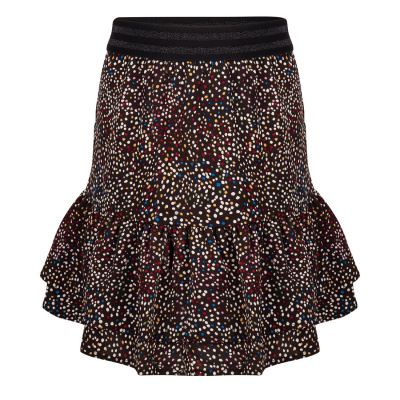 Foto van Indian blue jeans dots skirt