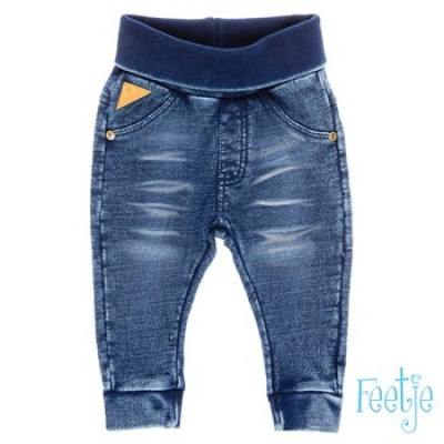 Feetje Blue denim broek uni Knitted slim fit denim