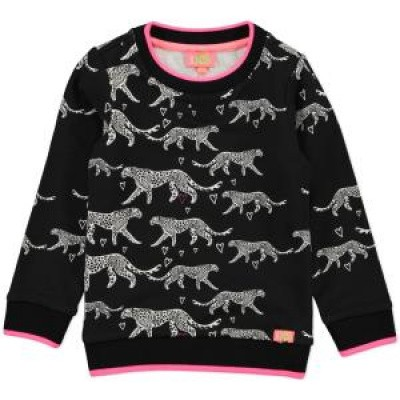 Funky xs girls sweater black& white tiger