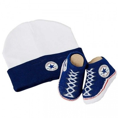 Foto van Convers Infant Hat & Booties navy/white