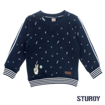 Foto van Sturdy Sweater all over print 24-7 Tuning Vibes Marine