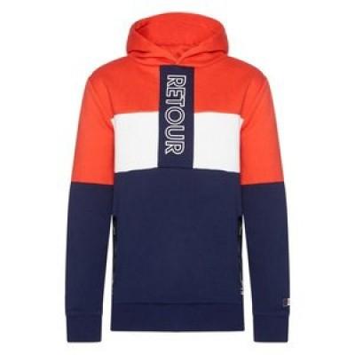 Foto van Retour boys sweater/hoodie Rick Rood/wit/blauw