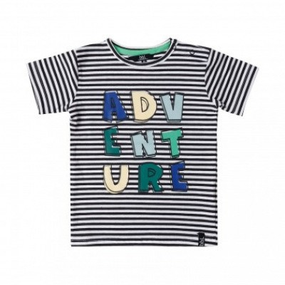 Foto van Beebielove boys t-shirt adventure stripe black