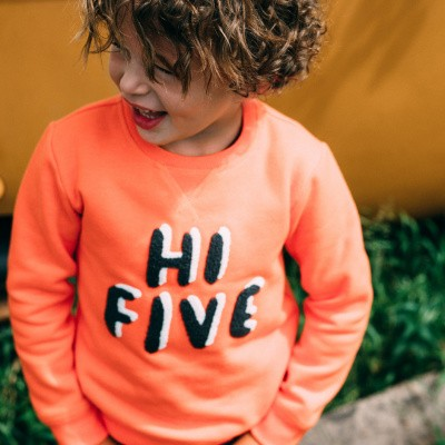 tumble n Dry boy sweater Dexter orange