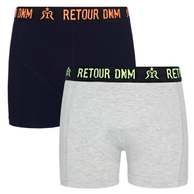 Foto van Retour Boys Barend Shorts Dark Blue 2 pack