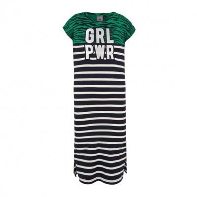 Retour Girls Dress Ginger Black/Green